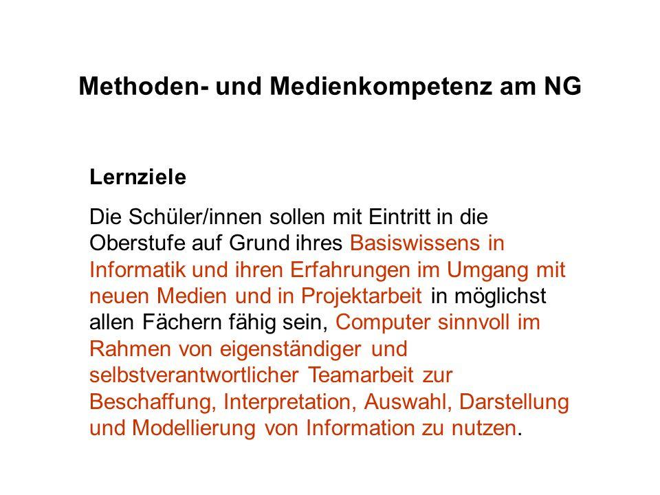 Methoden- und Medienkompetenz am NG