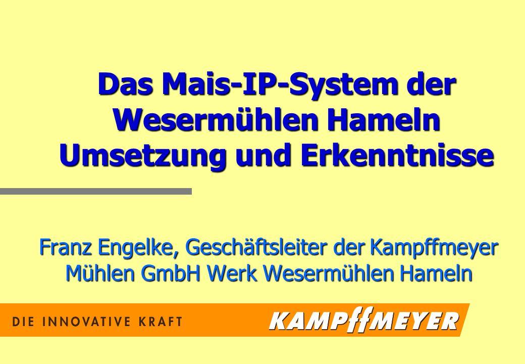 Das Mais-IP-System der Wesermühlen Hameln Umsetzung und Erkenntnisse