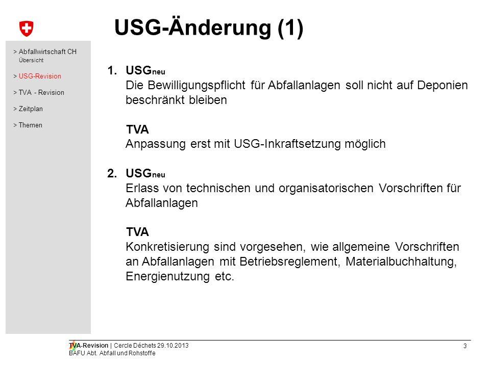 USG-Änderung (1) USGneu