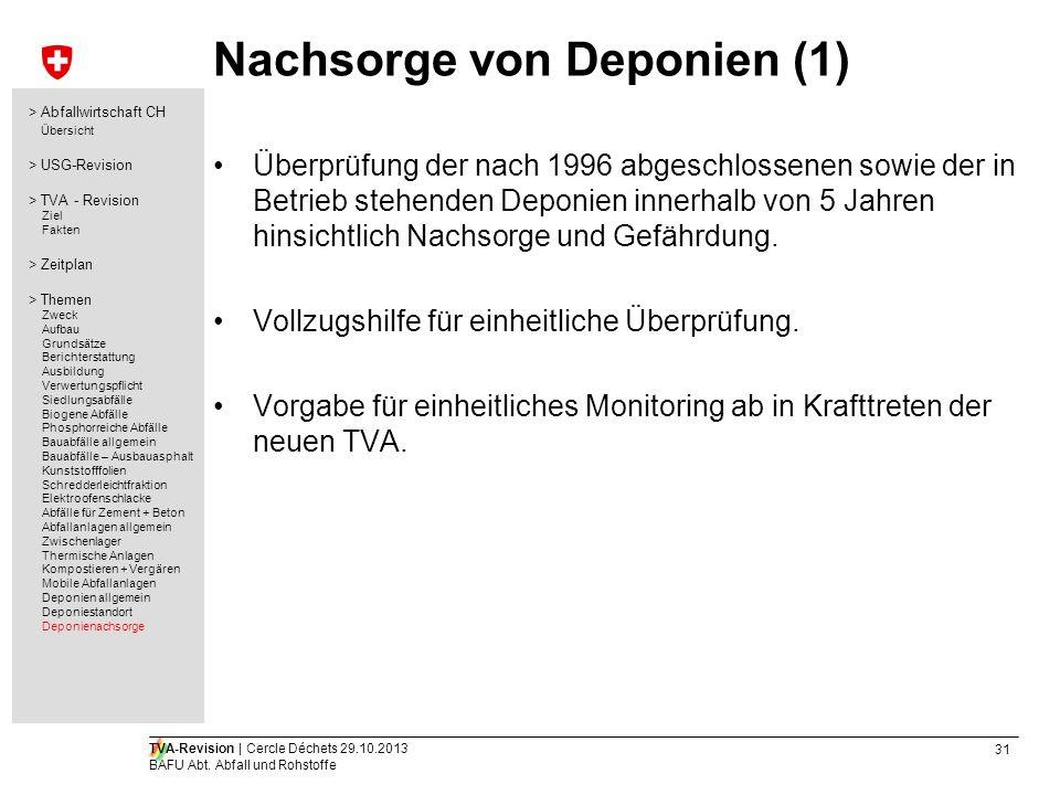 Nachsorge von Deponien (1)