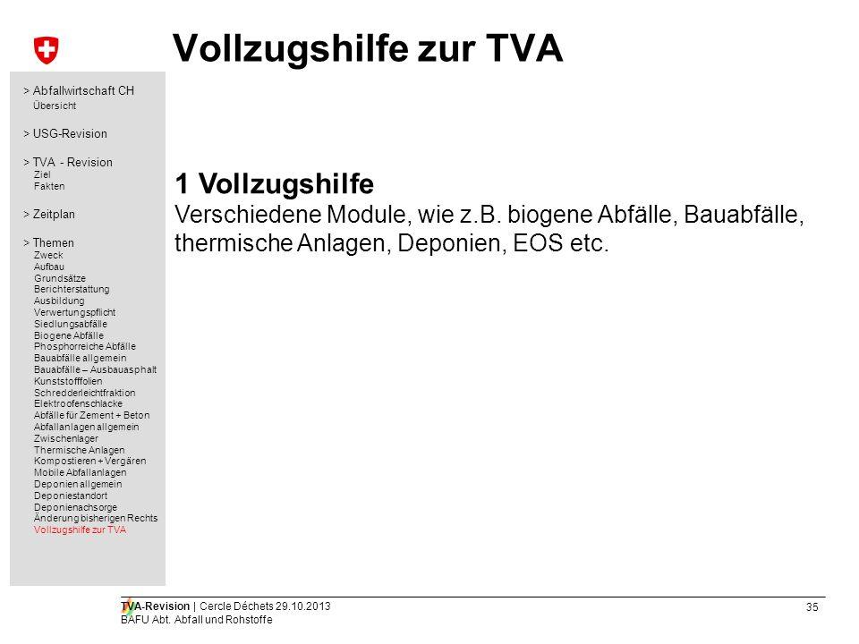 Vollzugshilfe zur TVA 1 Vollzugshilfe