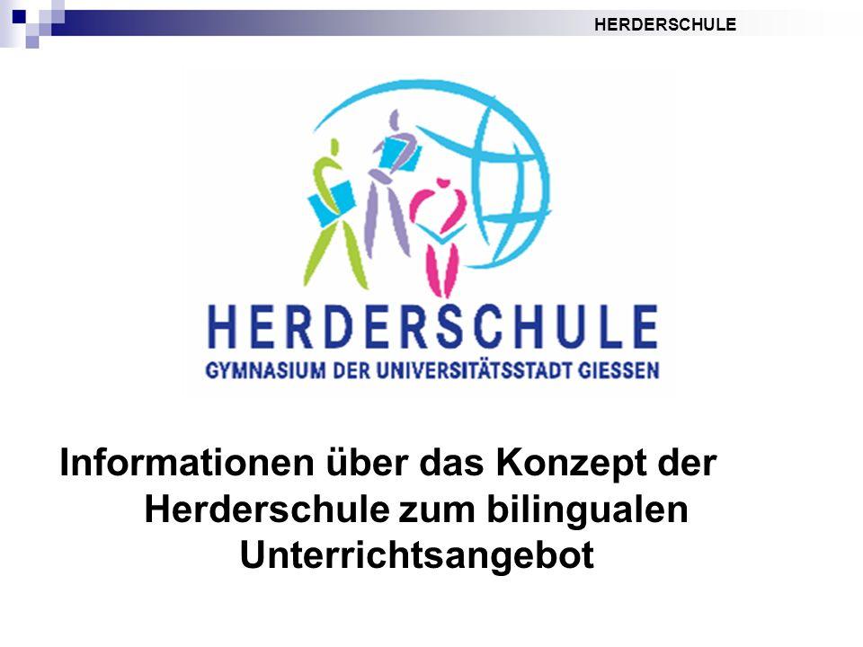 Informationen über das Konzept der Herderschule zum bilingualen Unterrichtsangebot