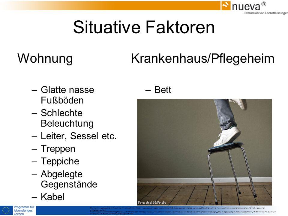 Situative Faktoren Wohnung Krankenhaus/Pflegeheim