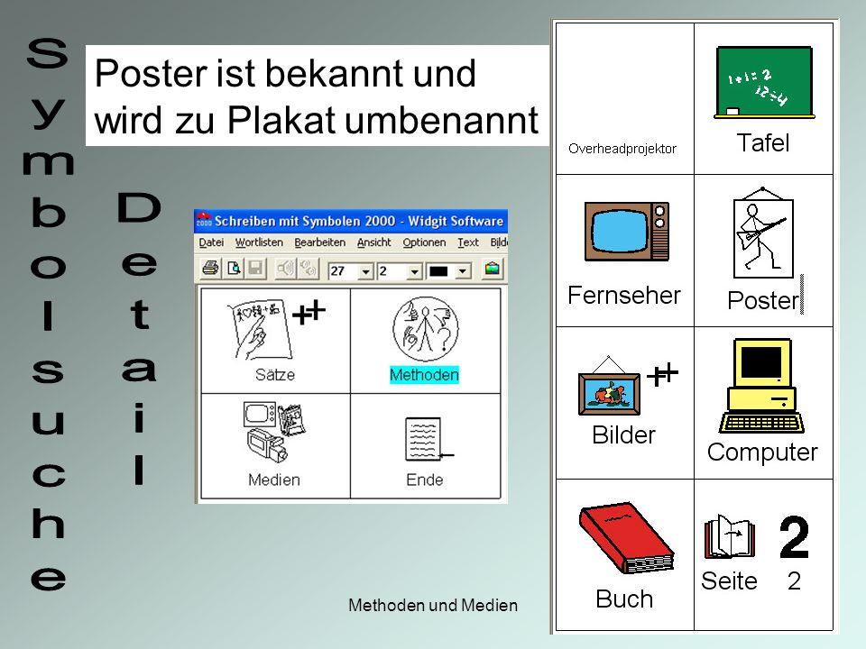 Poster ist bekannt und wird zu Plakat umbenannt