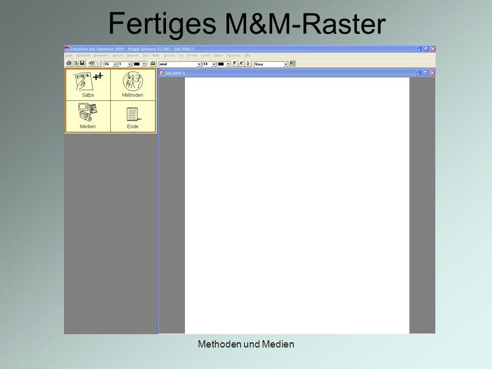 Fertiges M&M-Raster Methoden und Medien