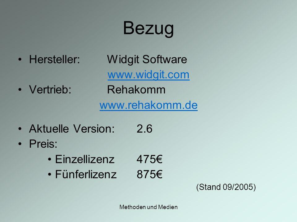 Bezug Hersteller: Widgit Software www.widgit.com Vertrieb: Rehakomm