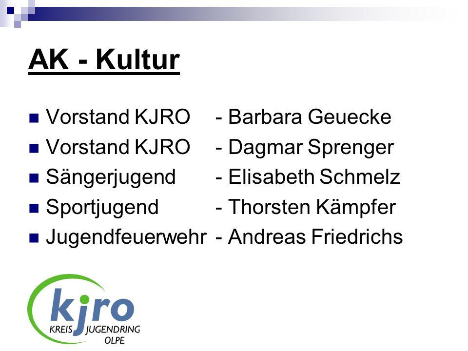AK - Kultur Vorstand KJRO - Barbara Geuecke