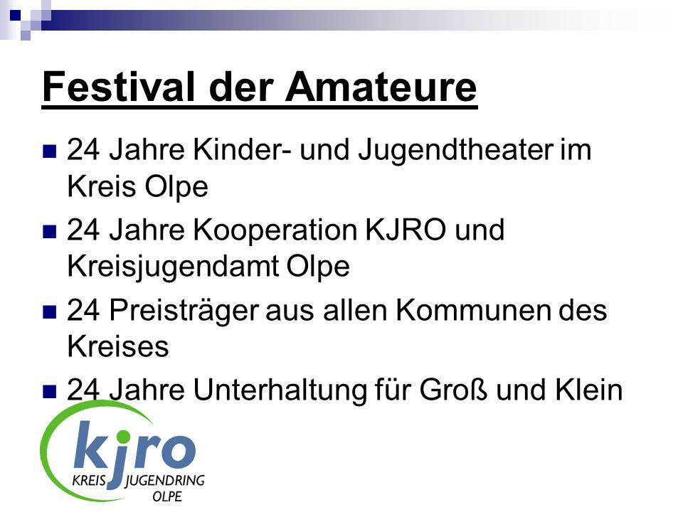 Festival der Amateure 24 Jahre Kinder- und Jugendtheater im Kreis Olpe