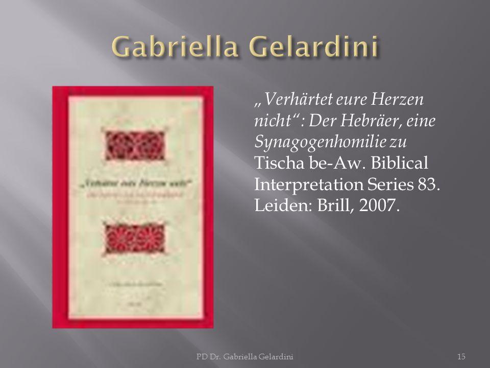 PD Dr. Gabriella Gelardini