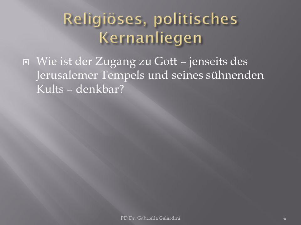 Religiöses, politisches Kernanliegen