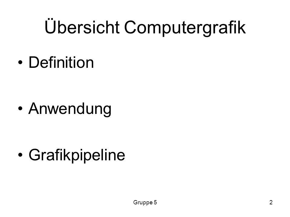 Übersicht Computergrafik