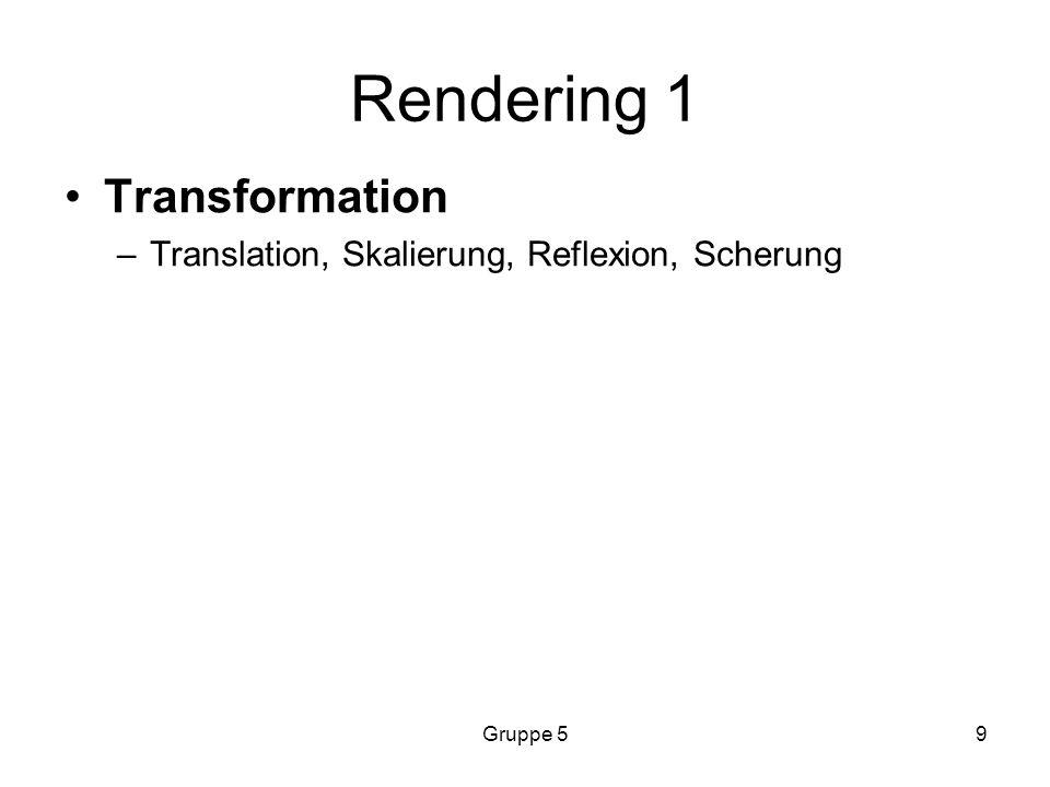 Rendering 1 Transformation