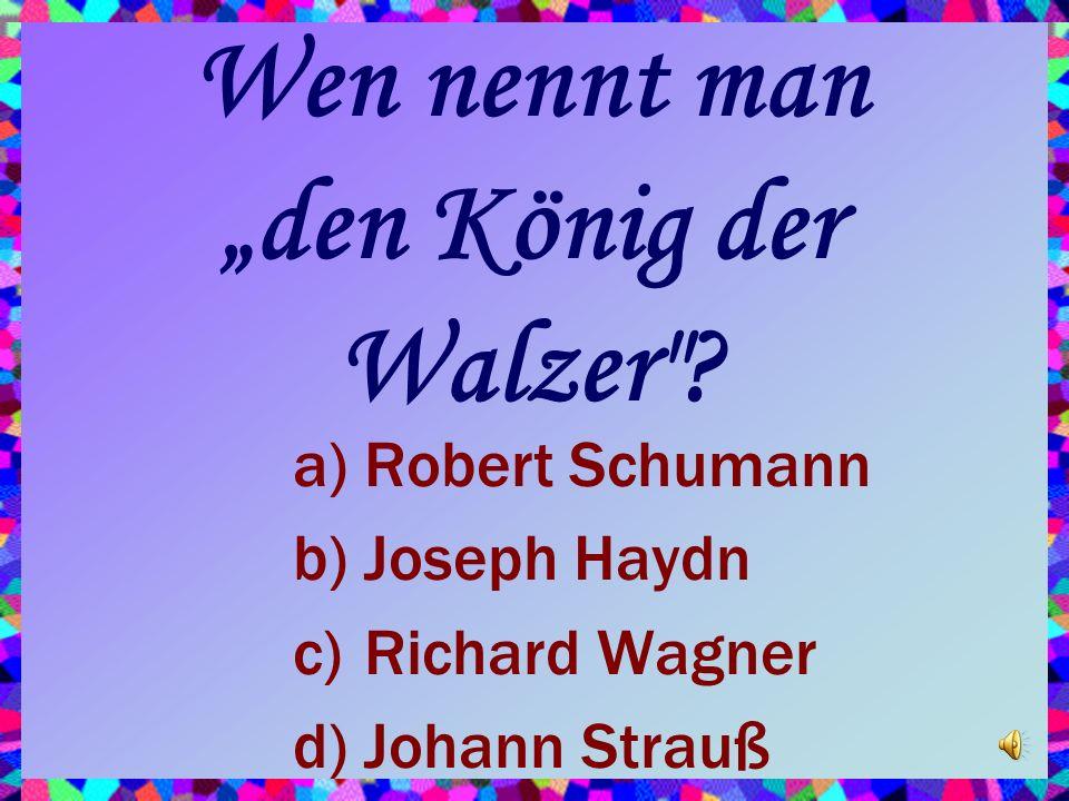 """Wen nennt man """"den König der Walzer"""