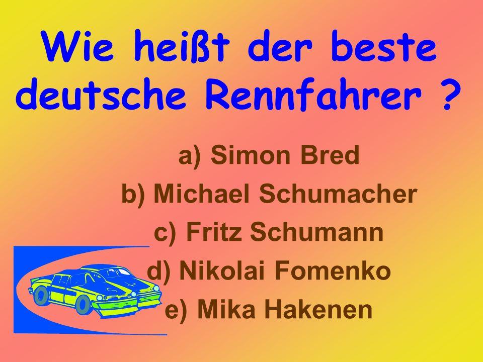 Wie heißt der beste deutsche Rennfahrer