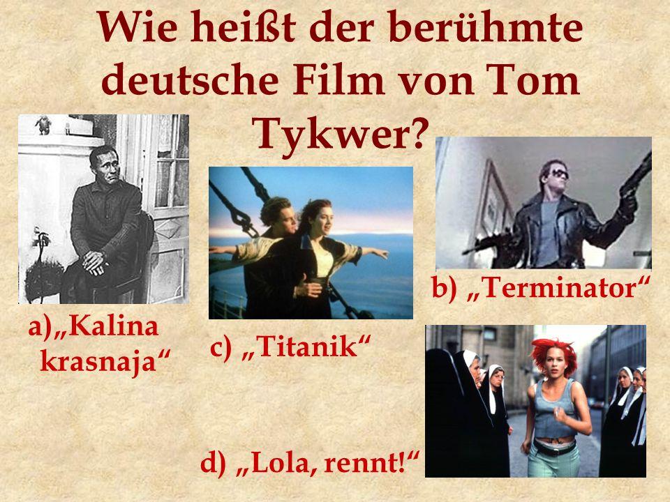 Wie heißt der berühmte deutsche Film von Tom Tykwer