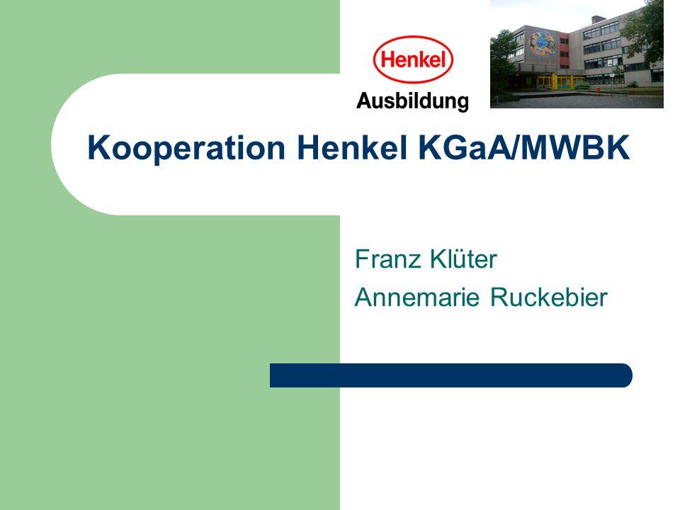 Kooperation Henkel KGaA/MWBK