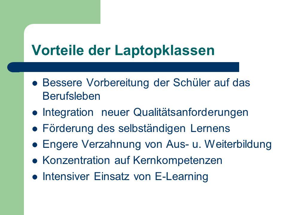 Vorteile der Laptopklassen