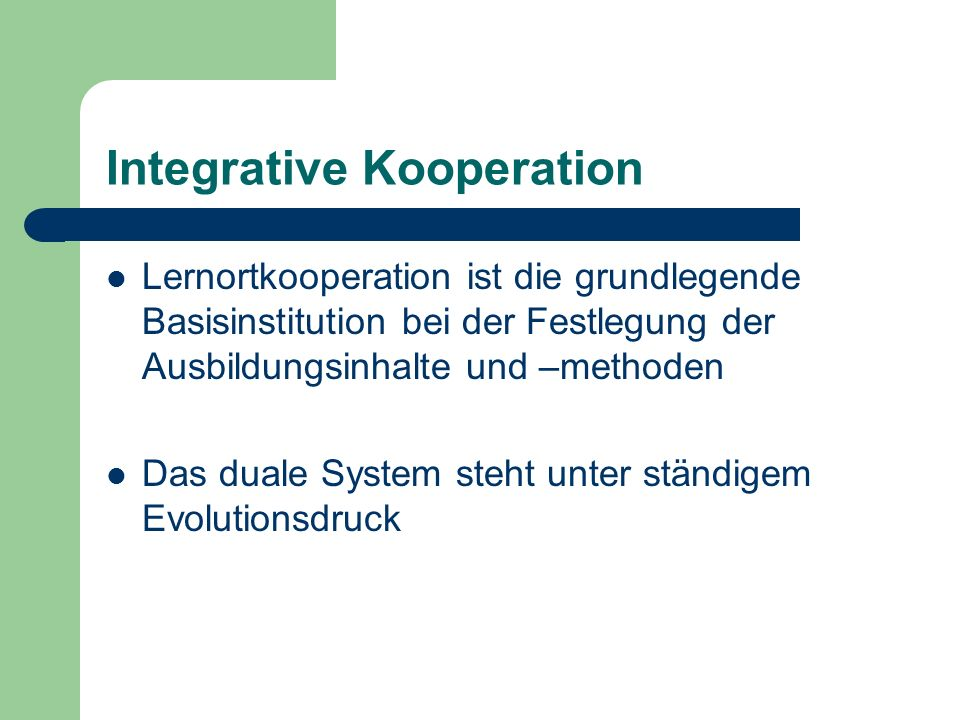 Integrative Kooperation