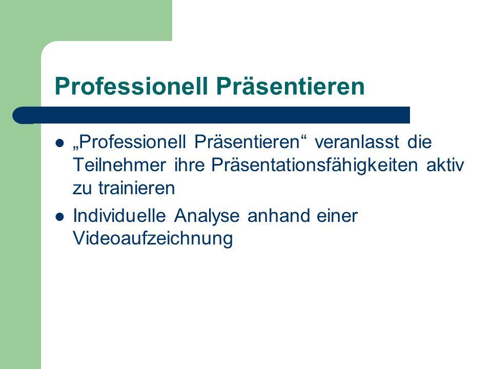 Professionell Präsentieren