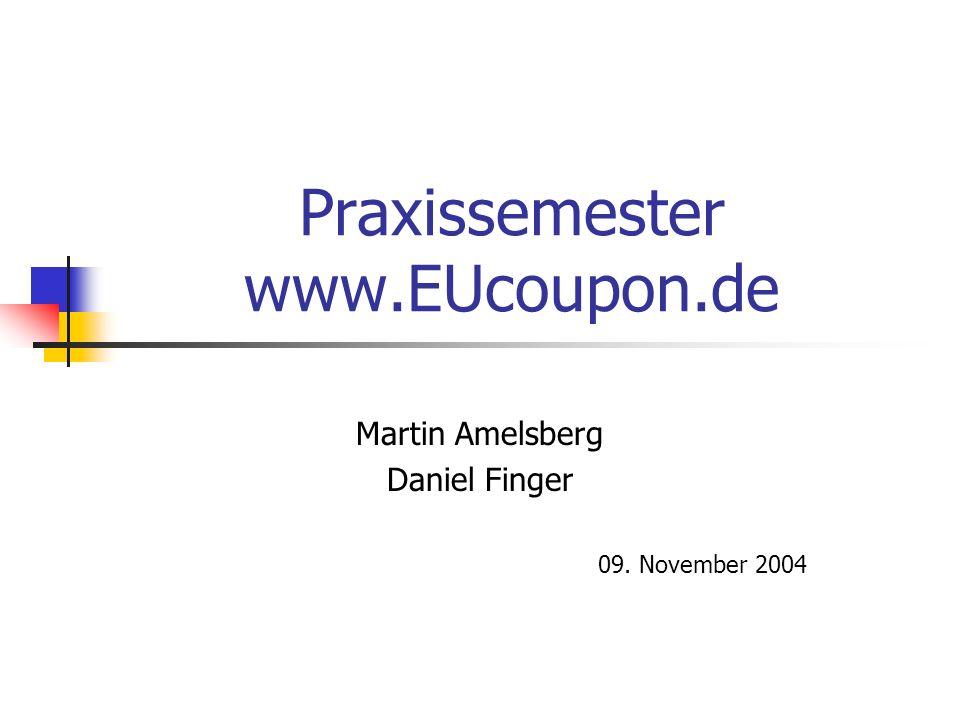 Praxissemester www.EUcoupon.de