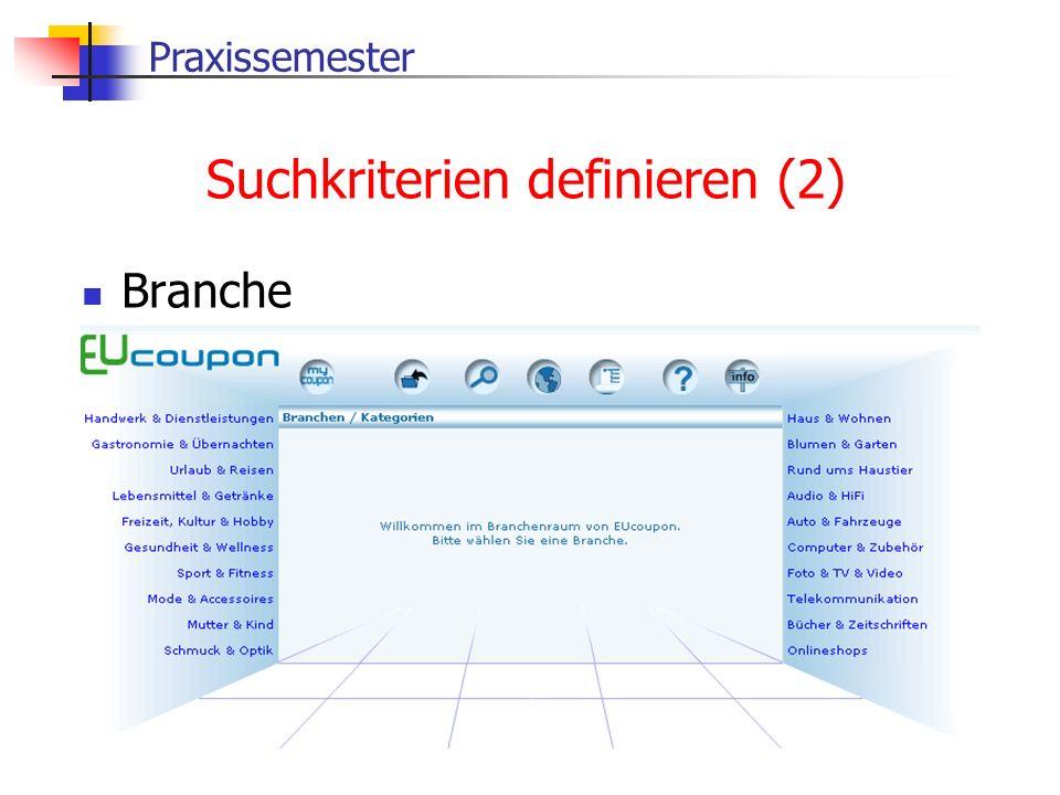 Suchkriterien definieren (2)