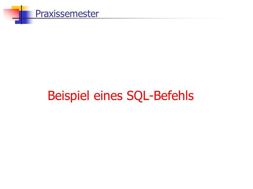 Beispiel eines SQL-Befehls
