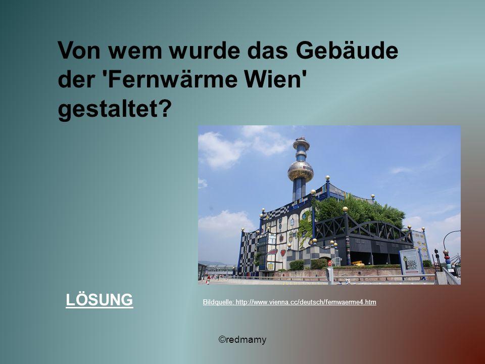 Von wem wurde das Gebäude der Fernwärme Wien gestaltet