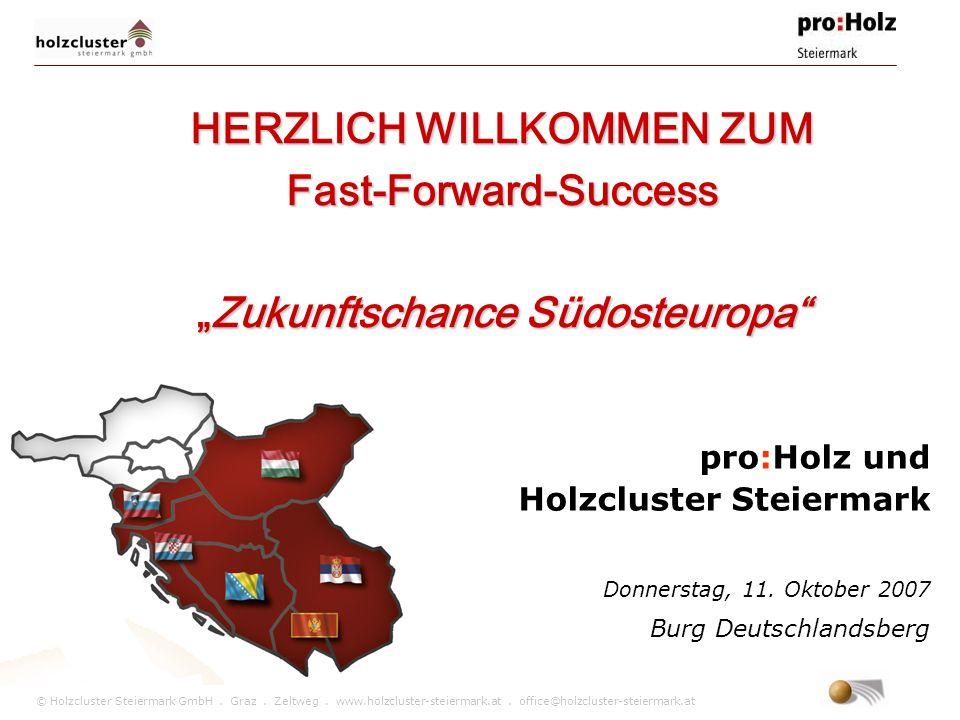 """HERZLICH WILLKOMMEN ZUM Fast-Forward-Success """"Zukunftschance Südosteuropa"""