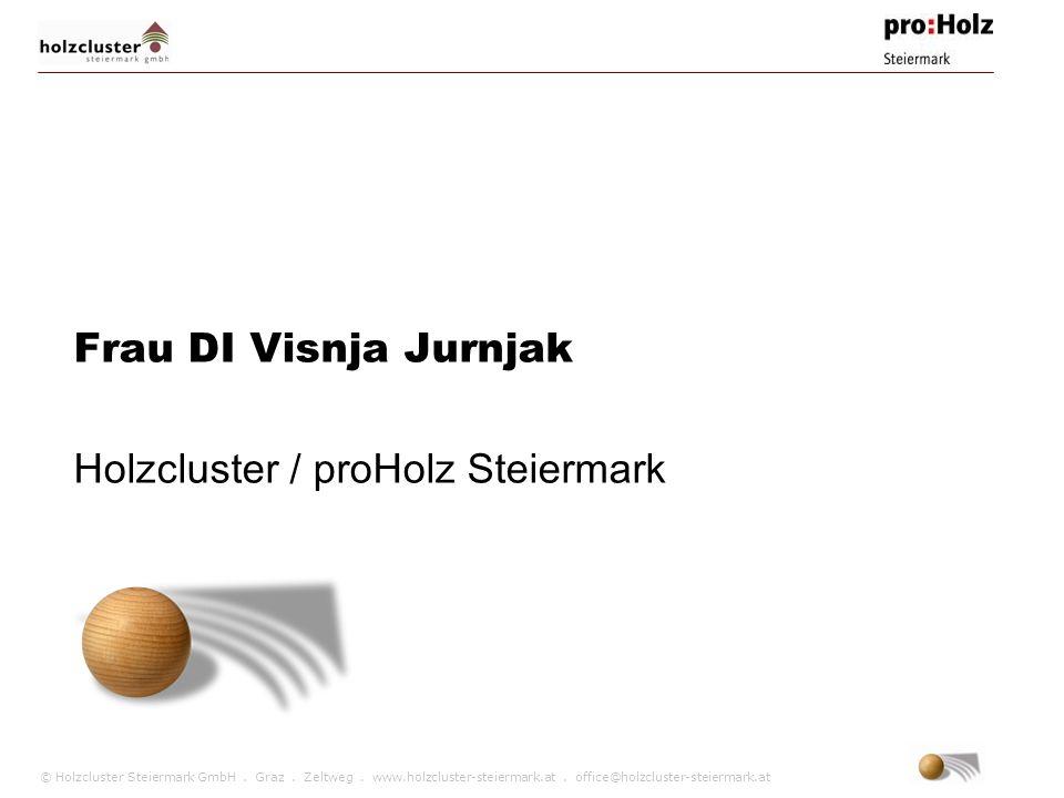 Frau DI Visnja Jurnjak Holzcluster / proHolz Steiermark
