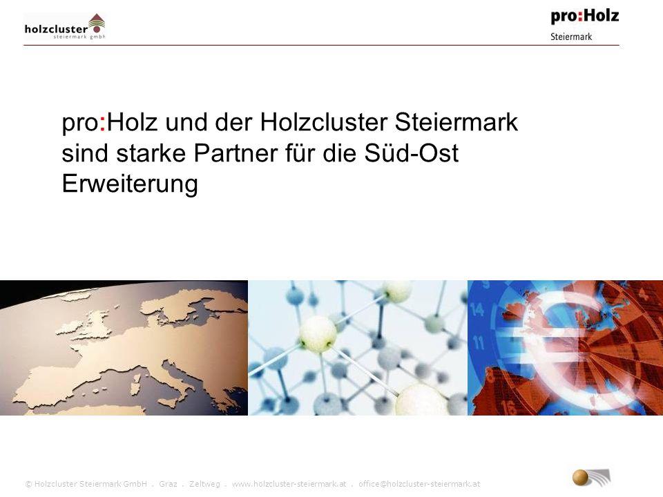 pro:Holz und der Holzcluster Steiermark