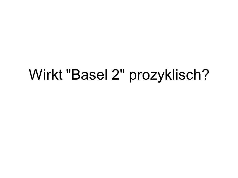 Wirkt Basel 2 prozyklisch