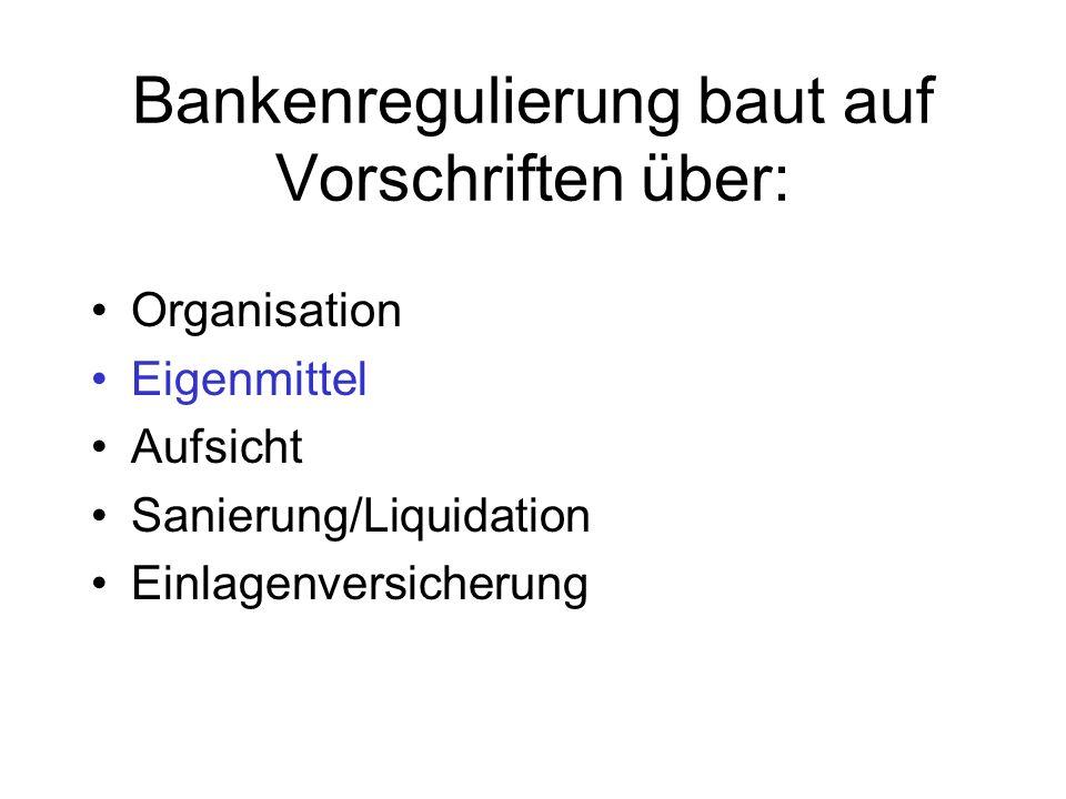 Bankenregulierung baut auf Vorschriften über: