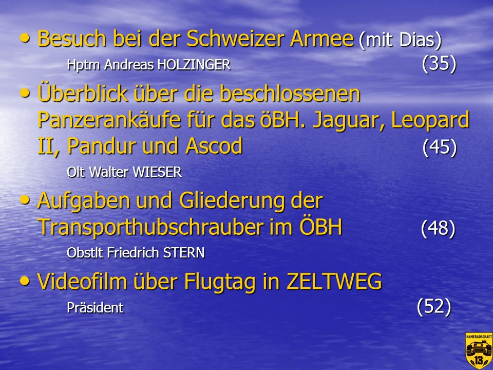 Besuch bei der Schweizer Armee (mit Dias) Hptm Andreas HOLZINGER (35)