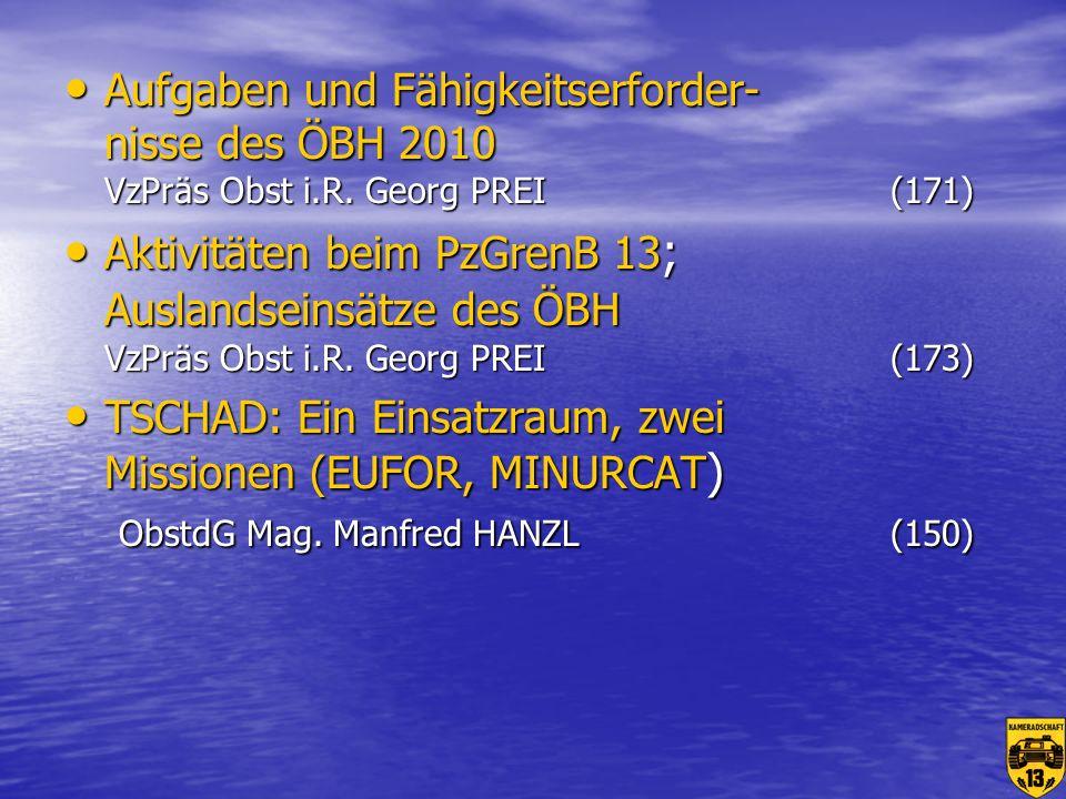 Aufgaben und Fähigkeitserforder- nisse des ÖBH 2010 VzPräs Obst i. R