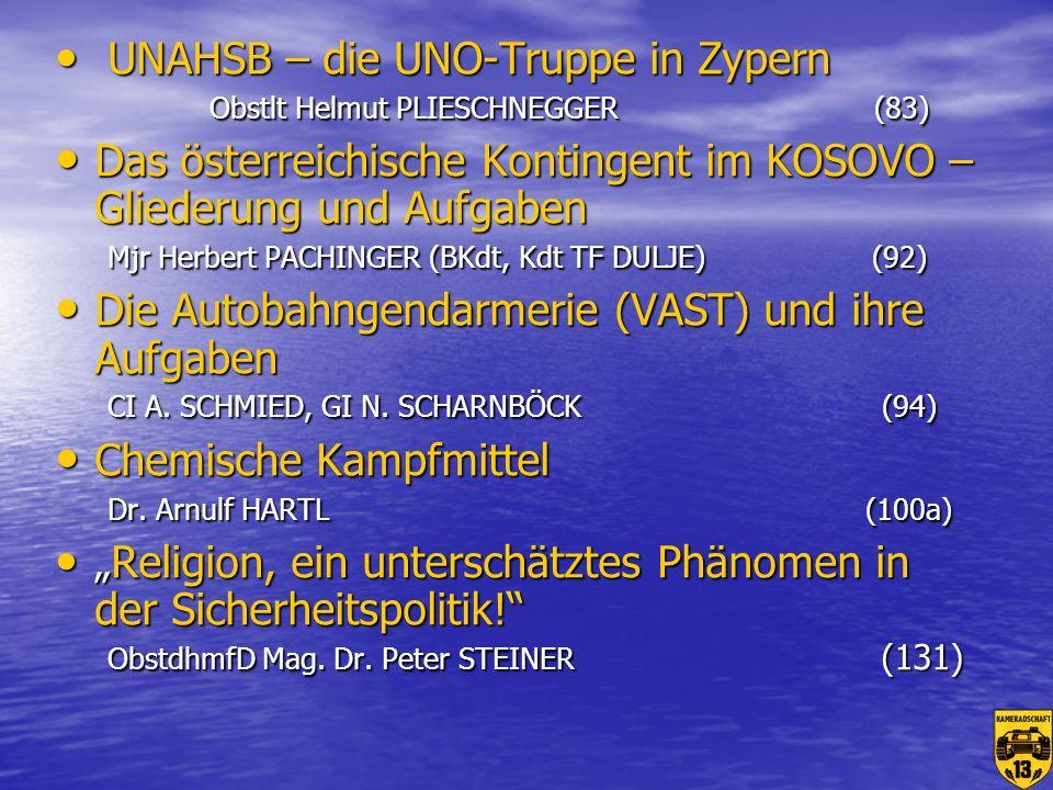 Chemische Kampfmittel Dr. Arnulf HARTL (100a)
