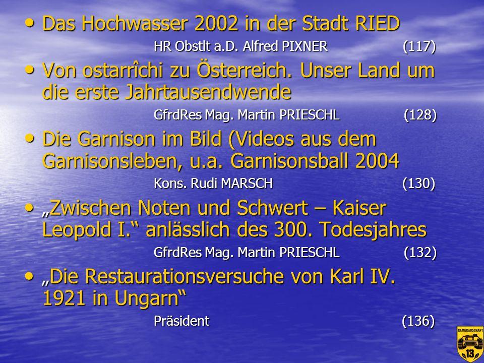 Das Hochwasser 2002 in der Stadt RIED HR Obstlt a. D