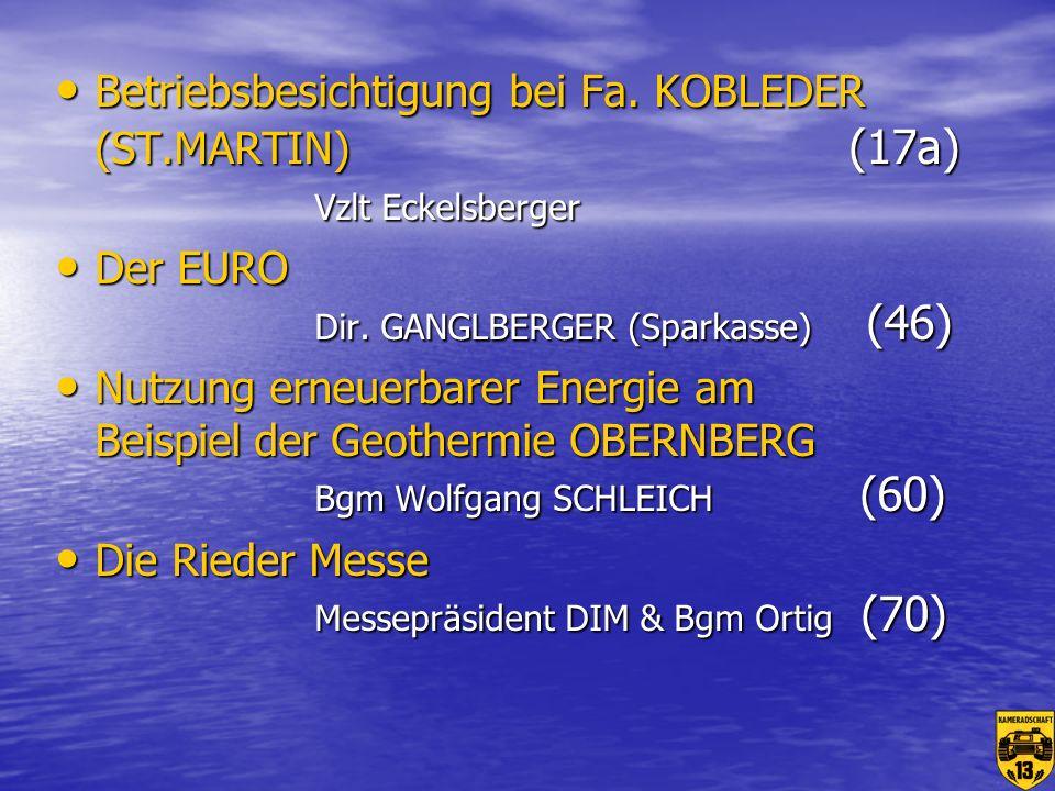 Betriebsbesichtigung bei Fa. KOBLEDER (ST