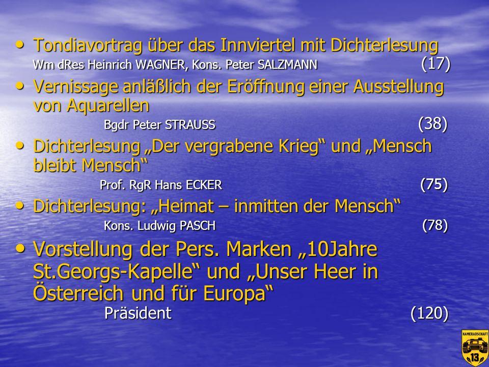 Tondiavortrag über das Innviertel mit Dichterlesung Wm dRes Heinrich WAGNER, Kons. Peter SALZMANN (17)