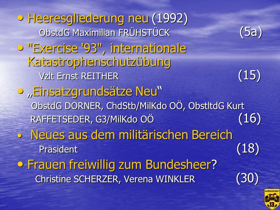 Heeresgliederung neu (1992) ObstdG Maximilian FRÜHSTÜCK (5a)