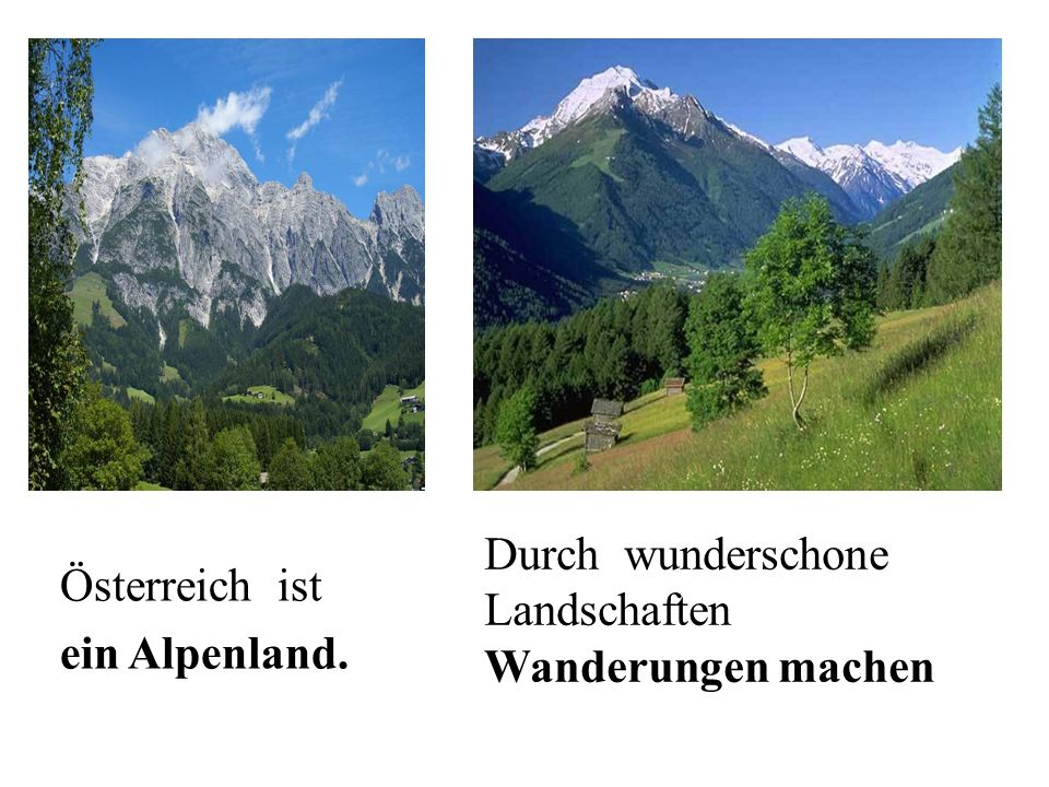 Durch wunderschone Landschaften Wanderungen machen