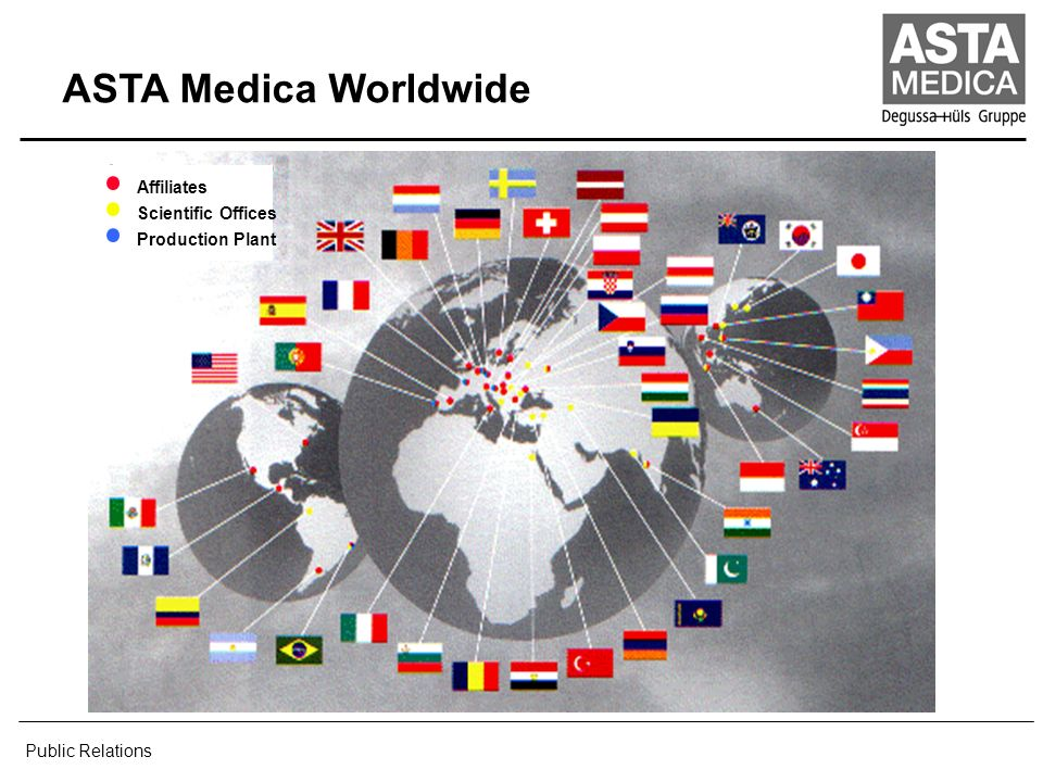 ASTA Medica Worldwide Public Relations Affiliates Scientific Offices
