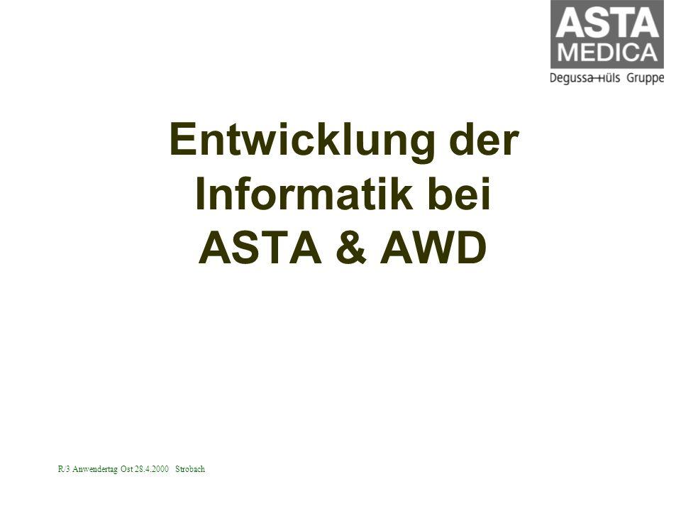 Entwicklung der Informatik bei ASTA & AWD