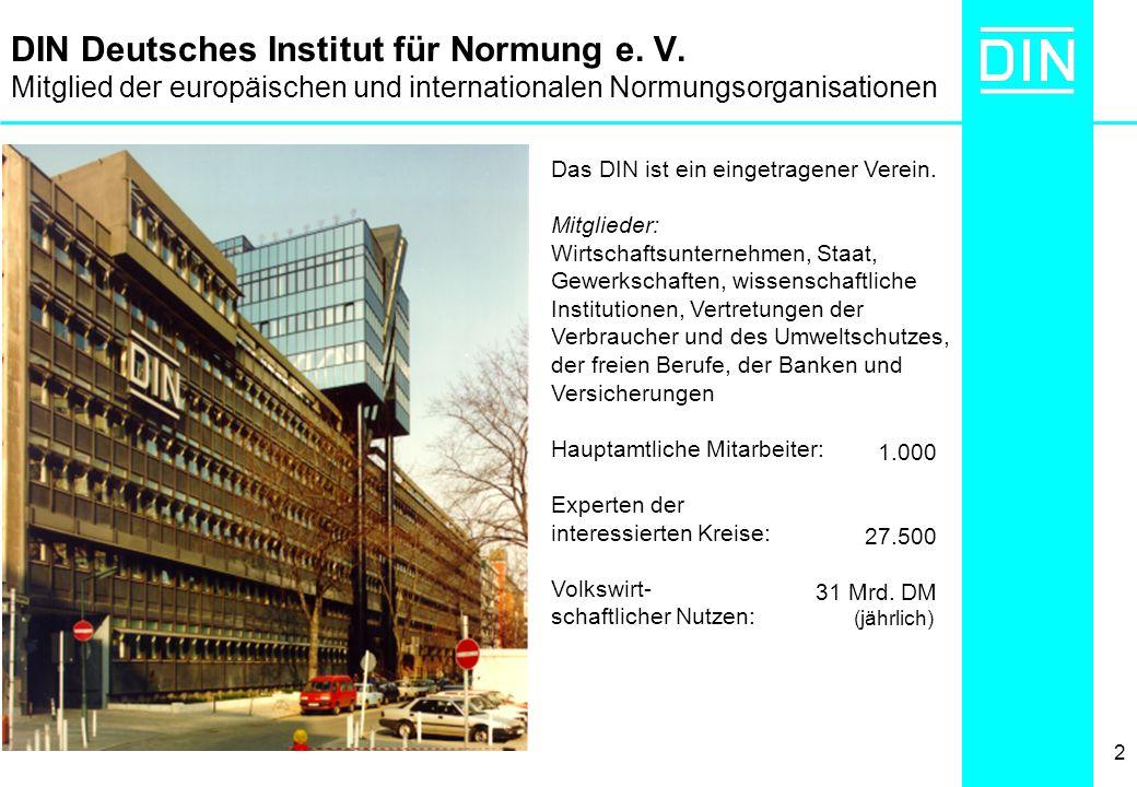 DIN Deutsches Institut für Normung e. V