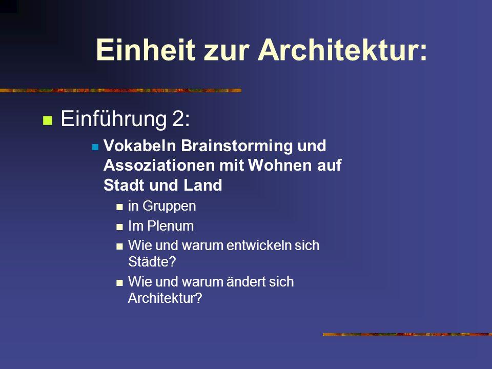 Einheit zur Architektur: