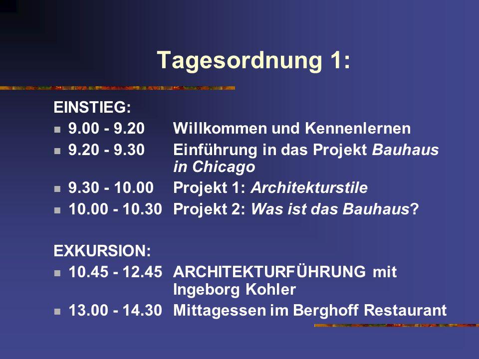 Tagesordnung 1: EINSTIEG: 9.00 - 9.20 Willkommen und Kennenlernen