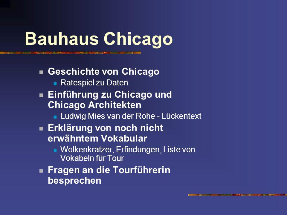 Bauhaus Chicago Geschichte von Chicago