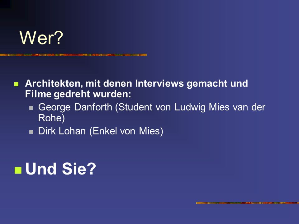 3/31/2017 Wer Architekten, mit denen Interviews gemacht und Filme gedreht wurden: George Danforth (Student von Ludwig Mies van der Rohe)