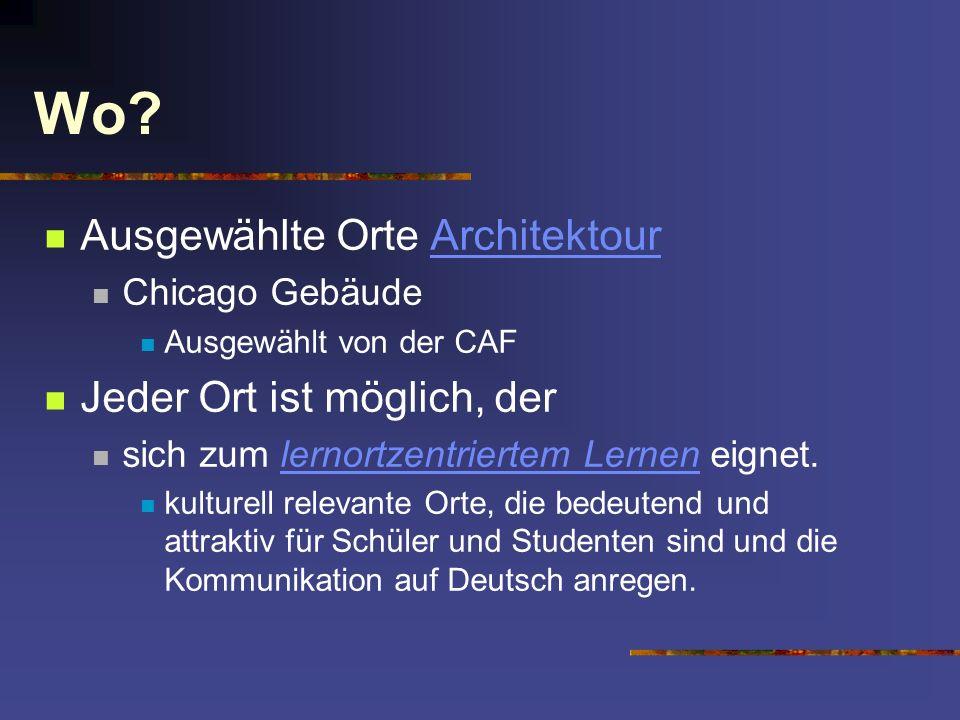 Wo Ausgewählte Orte Architektour Jeder Ort ist möglich, der