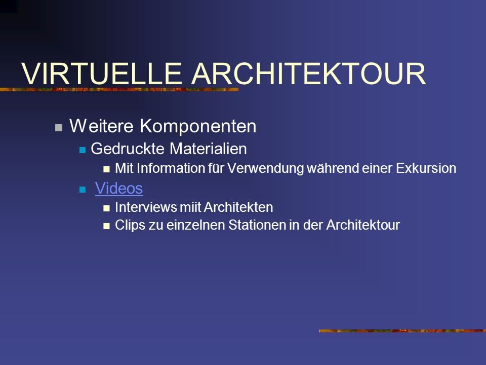 VIRTUELLE ARCHITEKTOUR