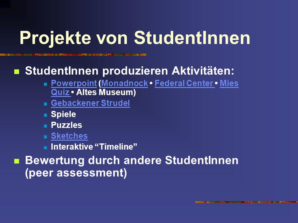 Projekte von StudentInnen